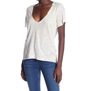 Free People Lace Trim Top